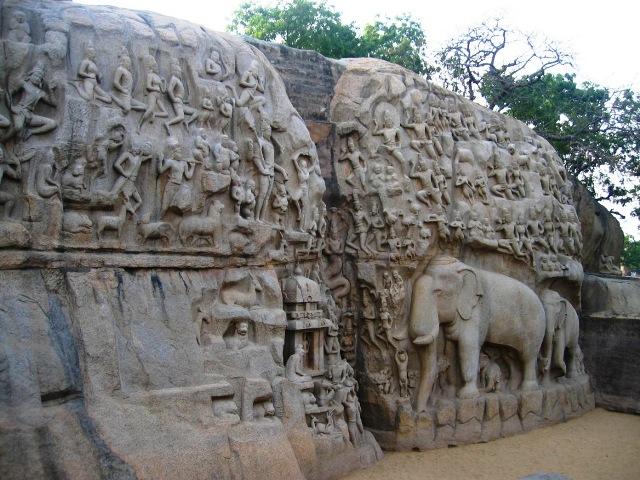 Carving of Arjunas Penance