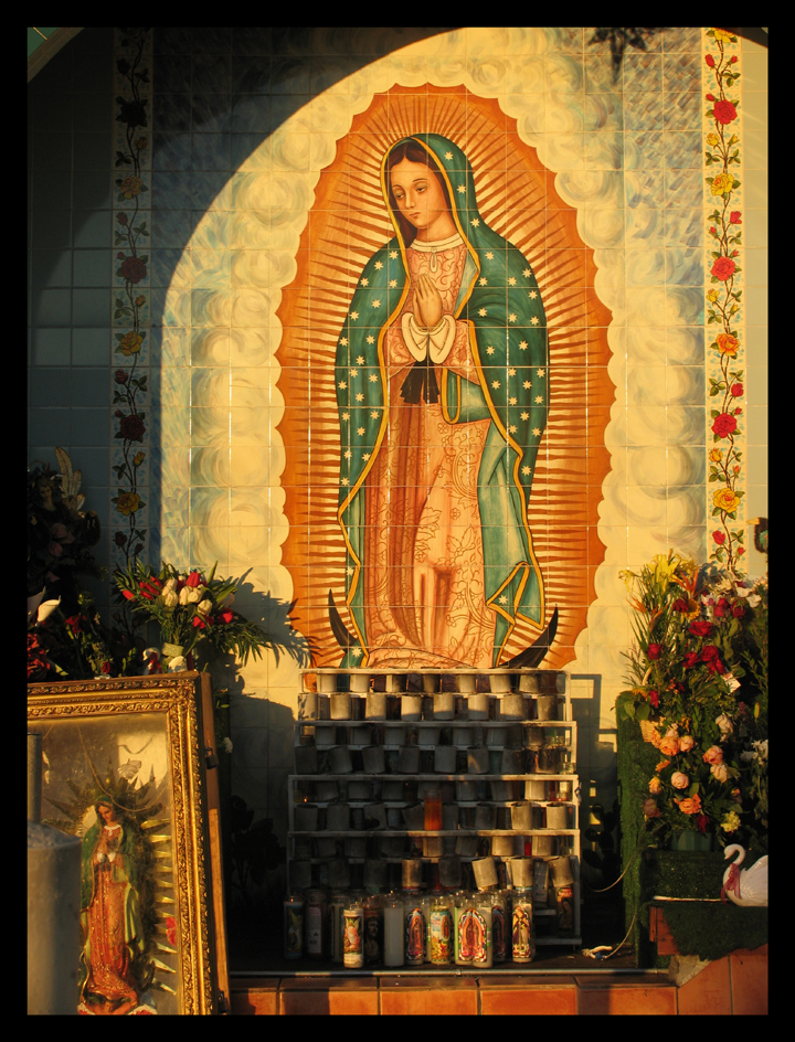 Virgin at Sunset I East LA Mercado