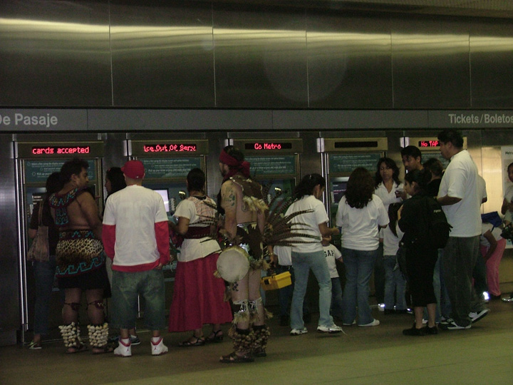 Buying Tickets for the Subway to Pershing Square