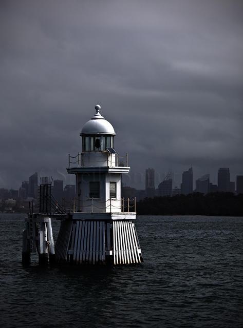 Marker on Sydney Harbour, Australia