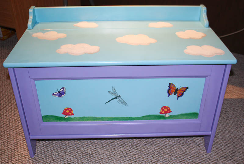 Hand painted toy box from Bob & Amanda