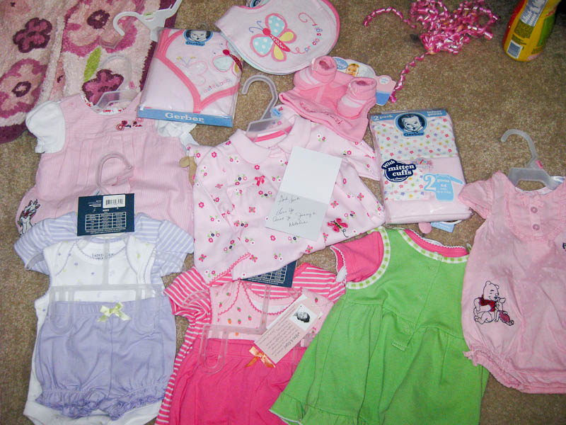 Clothes from Aunt Jo, Jenny, & Natalie