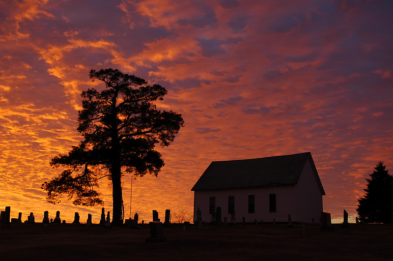 Sunrise at the Old Brick Church