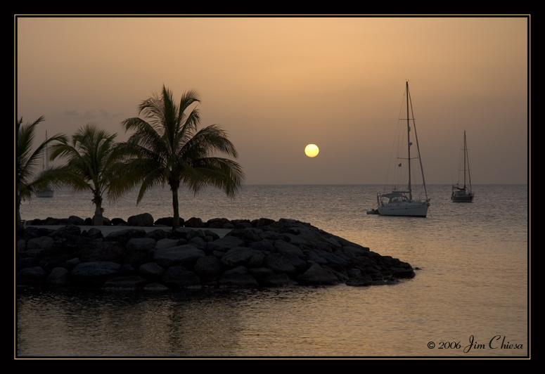 Sunset at La Pointe du Bout