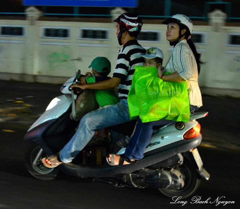 family of four Saigon, Vietnam