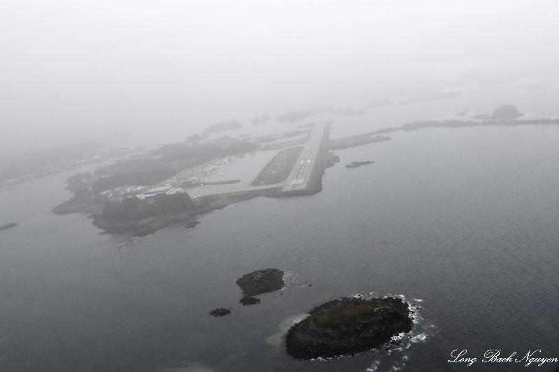 Turning Final to Sitka Airport, AK