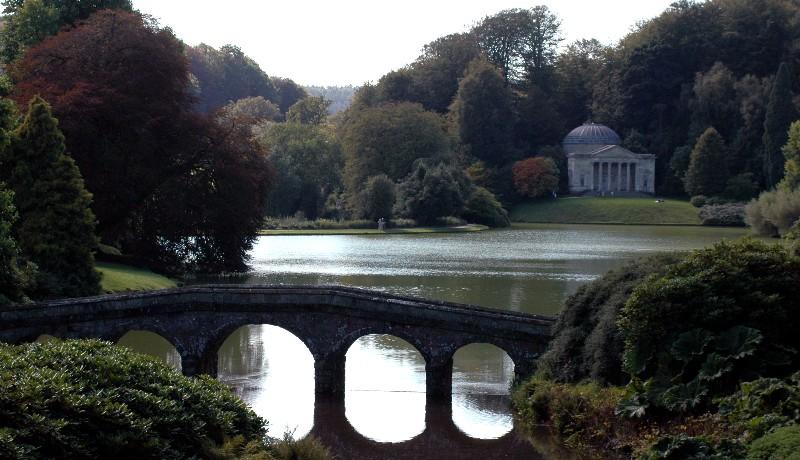 bridge in Stourhead Garden