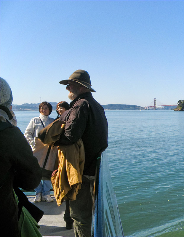 Golden Gate Bridge in the background