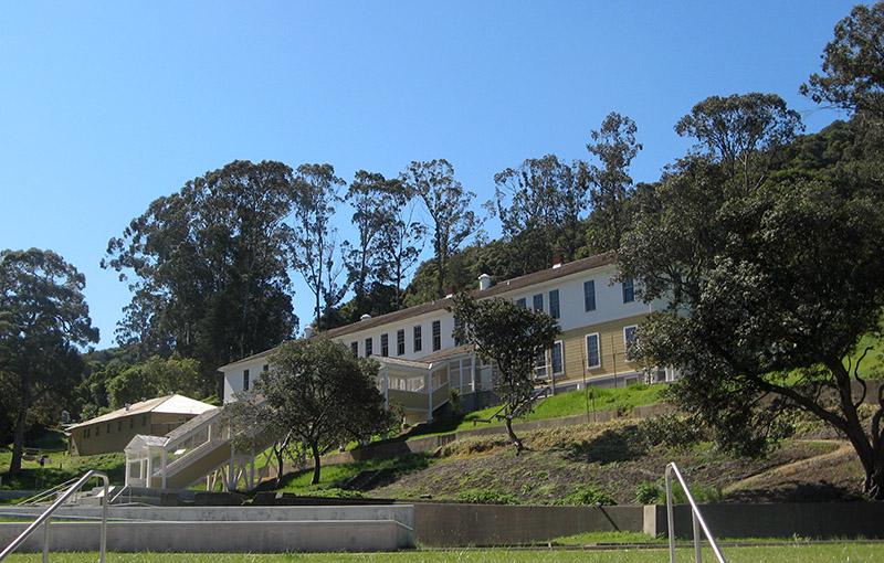 The newly restored main detention barracks