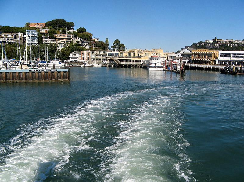 Leaving Tiburon on the Tiburon Ferry