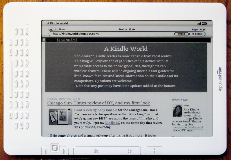Blog page auto-rotated to landscape mode