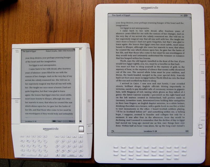 Generic font on Kindle 1 and smaller font on Kindle DX w/ margins adde