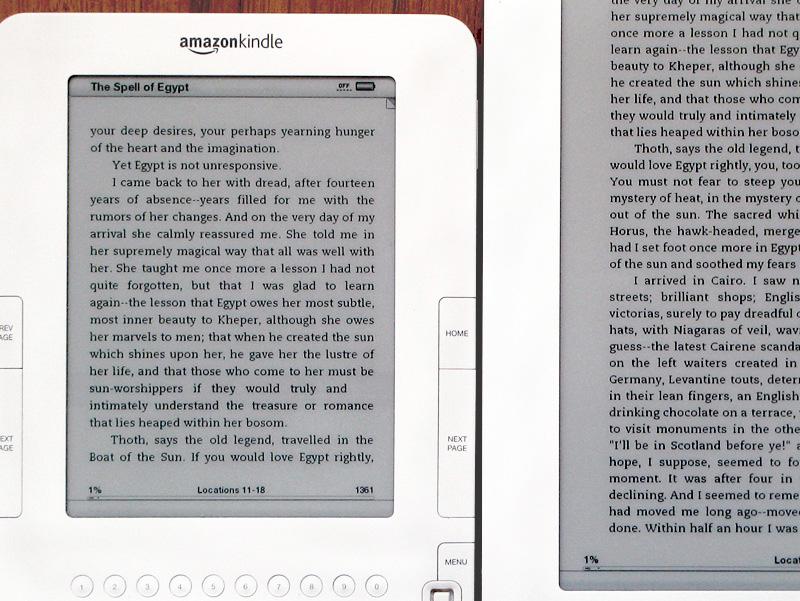Kindle2 and DXs generic fonts closer up