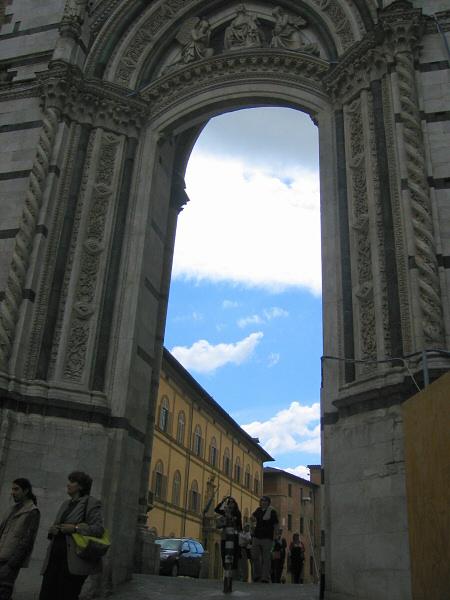 Through Siena Cathedral/Duomo area entrance