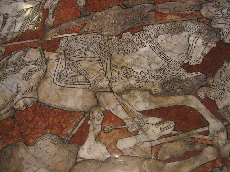 Floor is amazing - marble mosaic