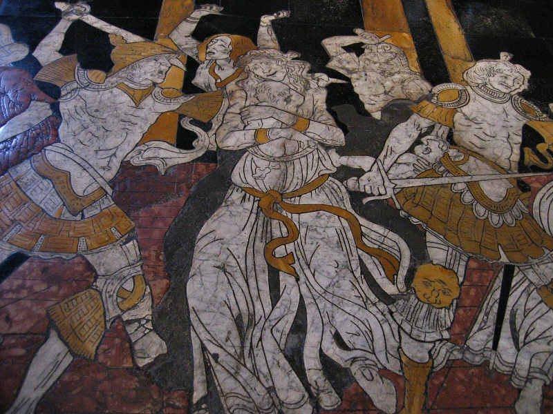 From Massacre of the Innocents, inlaid marble pavement