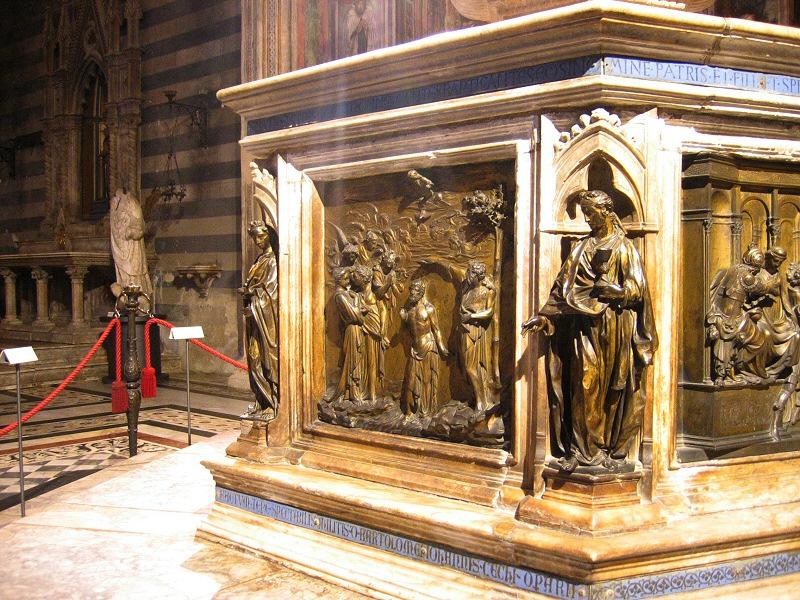 Baptistery Font - Ghibertis baptism of Jesus