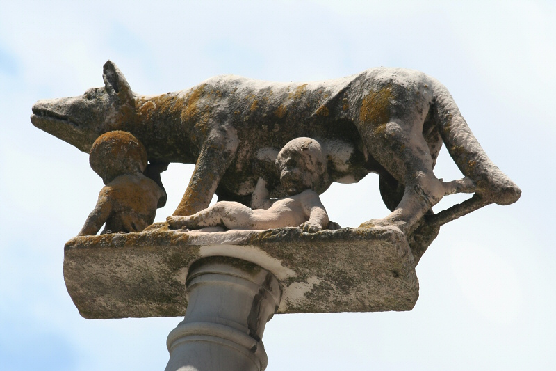 Romulus, Remus and the She-wolf, closer up