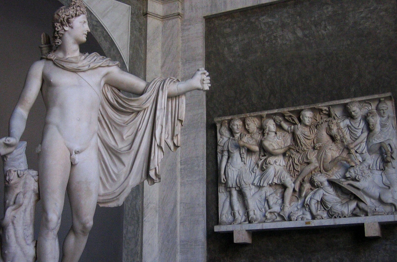 The Belvedere Apollo plus a frieze