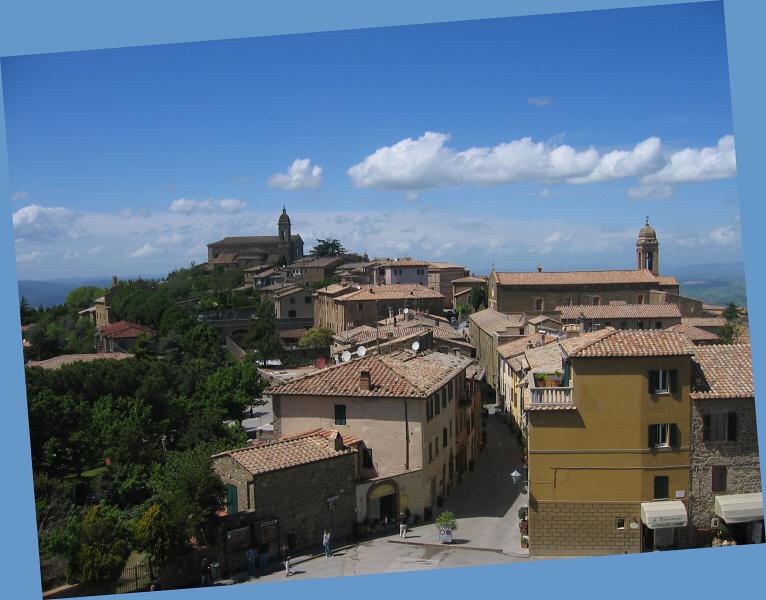 An older Montalcino street