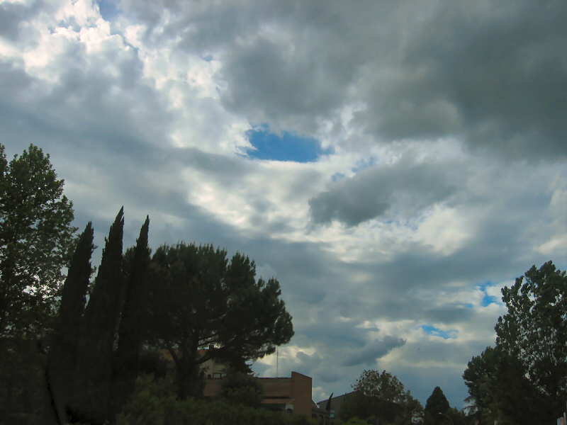 From the car, just a dramatic sky