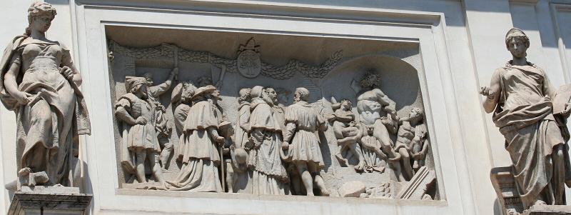 Sculptural frieze on an unidentified building