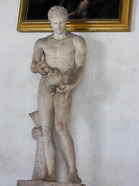 Athlete with vase, Roman copy of Greek origl