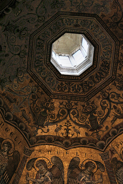 Baptistery dome windows