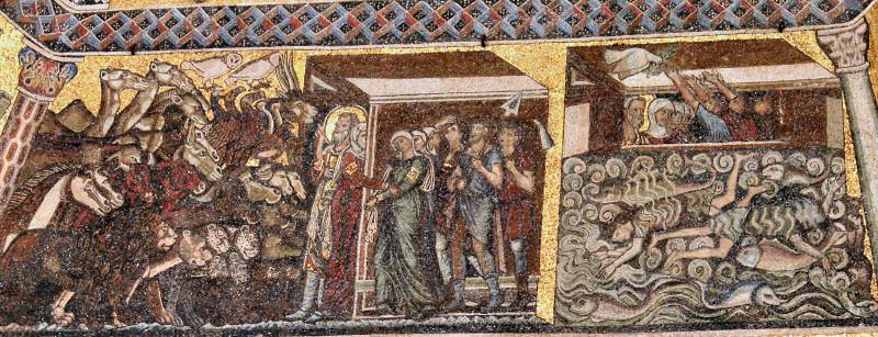 Noahs Ark wall mosaic.  I love those columns.