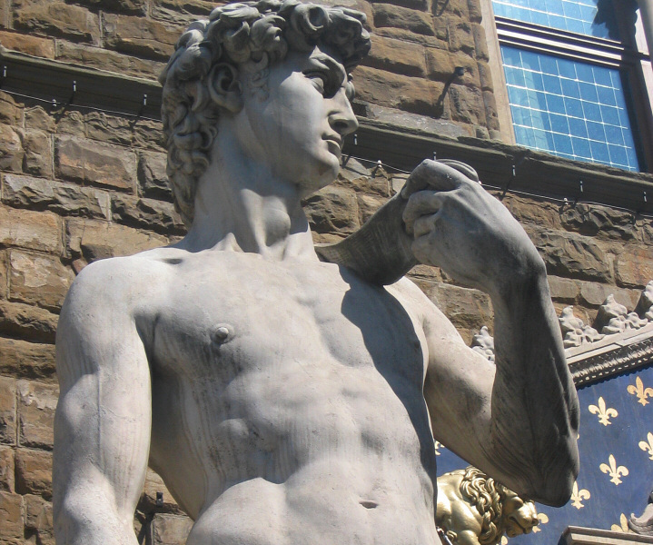 I saw this copy in <a href=http://tinyurl.com/eevk4 target=_blank>Piazza Signoria</a> before I saw the origl at Accademia