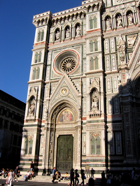 <a href=http://tinyurl.com/fduomo target=_blank><u>Duomo</u></a>, front.  Taken with Elph.  Note the doors (next)