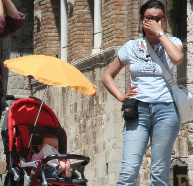 Moms had enough, could use babys umbrella