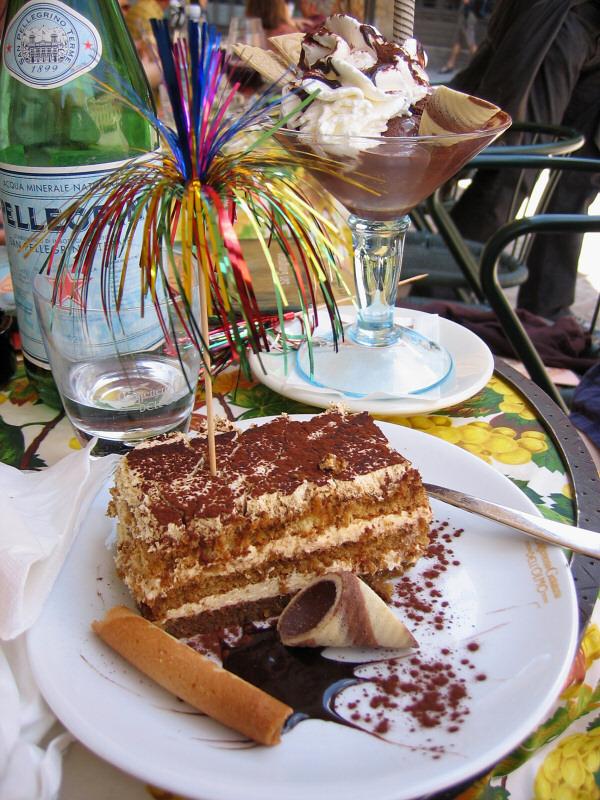 My <a href=http://tinyurl.com/gyutv target=_blank>tiramisu</a> cake with usual ribbon fireworks