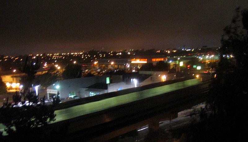 Blur moving train against buildings. 1/6s