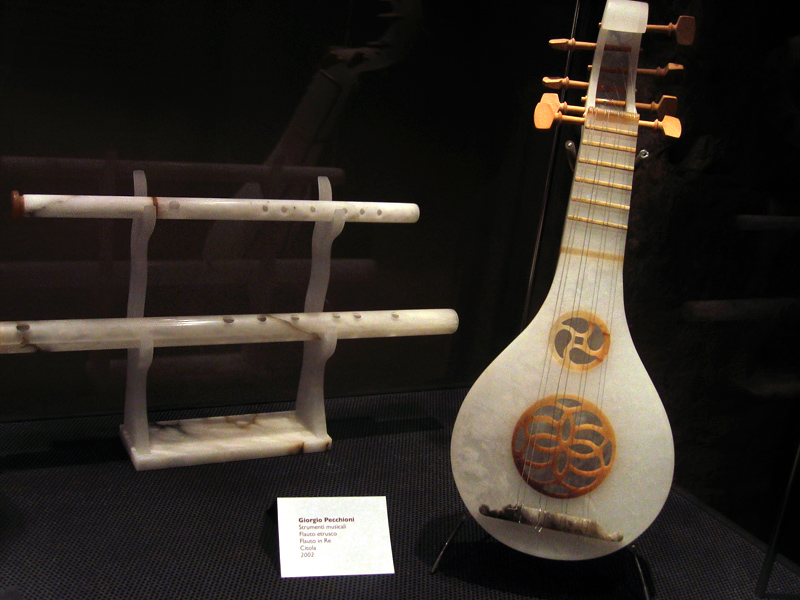 Mandolin and flutes made from alabaster