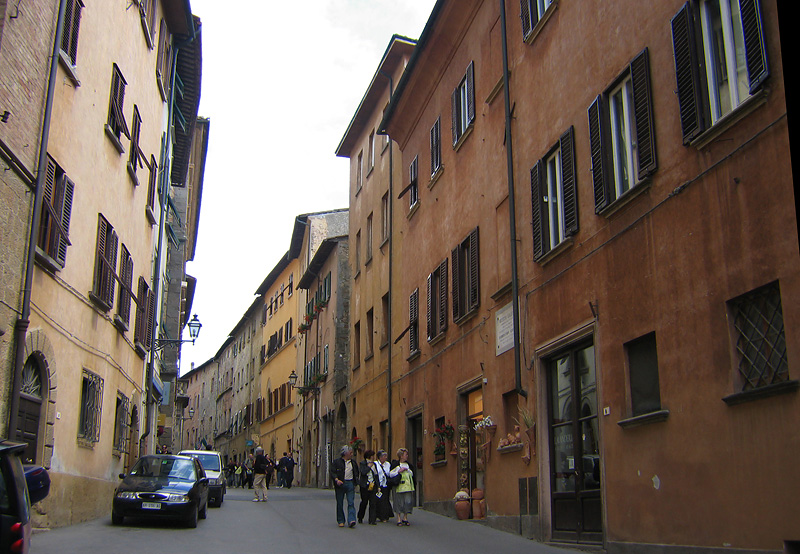 The Volterra street where our hotel was.