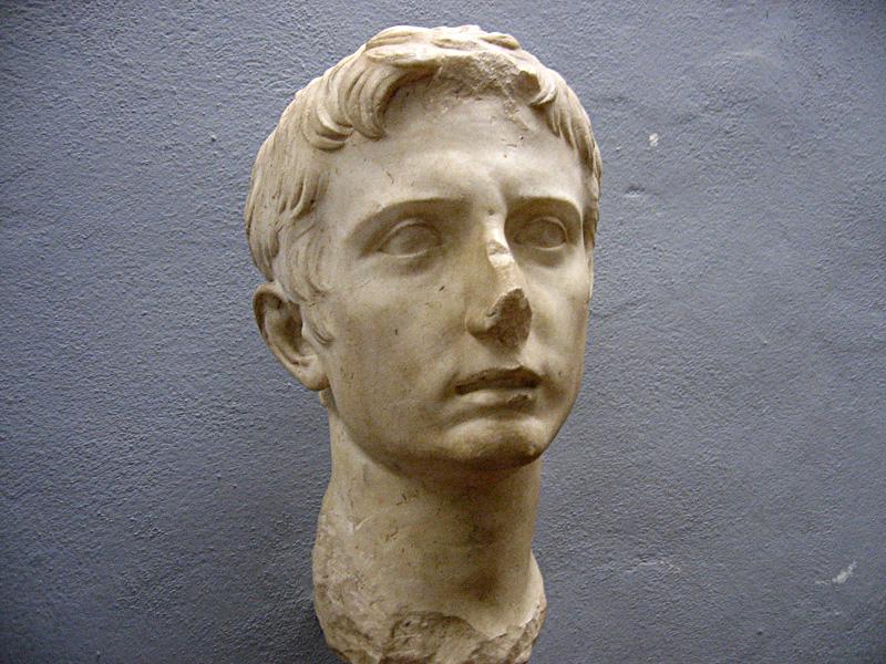 Bust of Caligula!  Volterras <a href=http://xrl.us/guarnacci target=_blank><u>Guarnacci</u></a> Etruscan Museum
