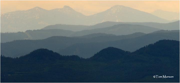 A rainy morning on Mt Spokane WA