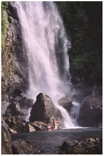 Laura & Brigit under the falls