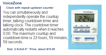 Cheap clock with repeat up/down counter