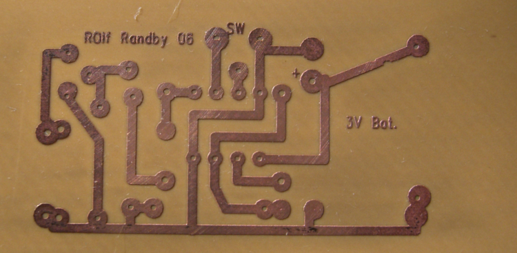First PCB etched.........(2.75x1.25)