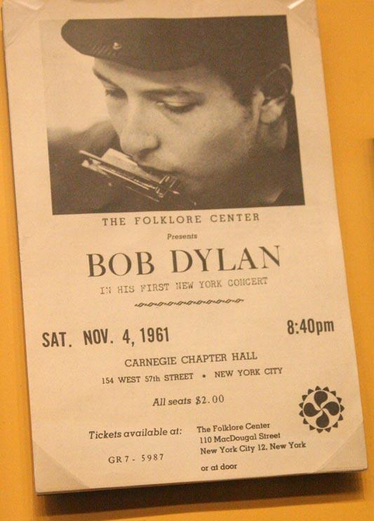 All Seats $2.00 - Bob Dylan 1961