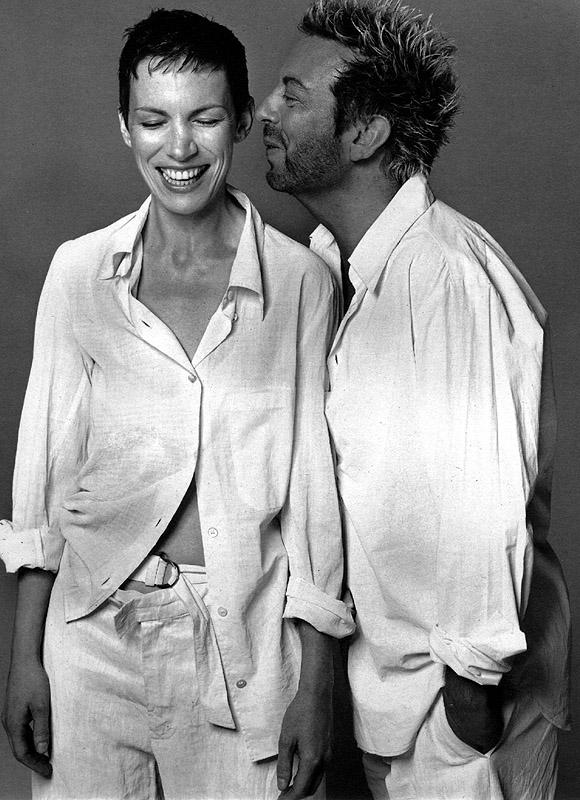 Duo David Stewart and Annie Lennox, Eurythmics