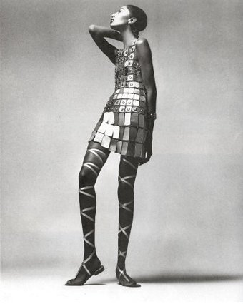 Donyale Luna in Dress by Paco Rabanne, New York Studio, 1966