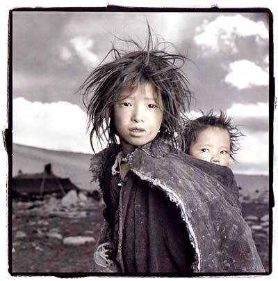 Jigme 8, Sonam 18 months /Ladakh, India/