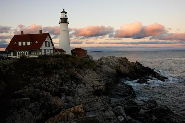 DSC03408.jpg days end Portland Head Light lighthouses by donald verger september 29