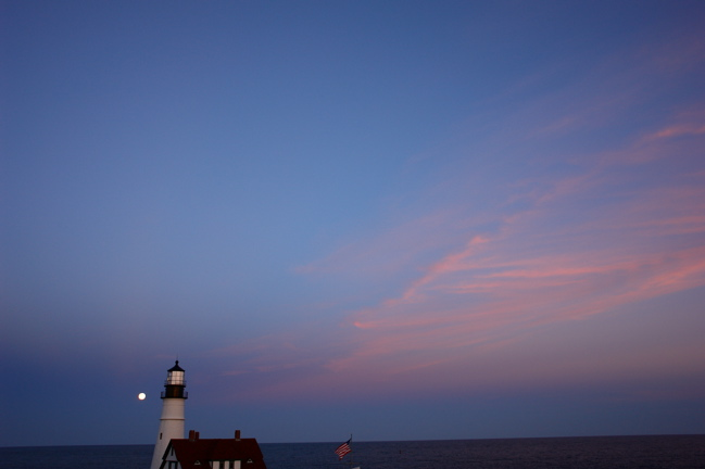 DSC04540.jpg OH SAY CAN YOU SEE in the dawns early light... PORTLAND HEADL LIGHT LIGHTHOUSE DOANLD VERGER