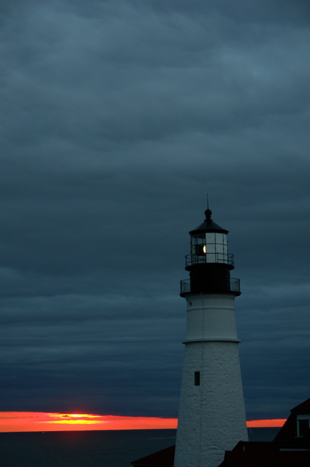 DSC05436.jpg TALL STORM SKY SUNRISE AT PORTLAND HEAD LIGHT BY DONALD VERGER