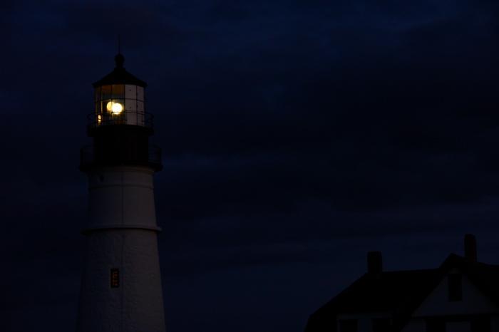 DSC06688.jpg portland head light donald verger lighthouses... handheld after the park closed
