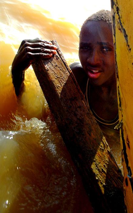 fisherboy on the rudder
